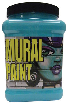 Chroma Mural Paint Half Gallon Calypso Turquoise