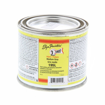 1 Shot Lettering Enamel 1/4 Pint Paint Can Medium Grey