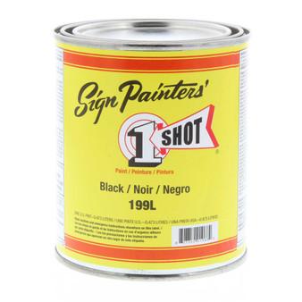 1 Shot Lettering Enamel Pint Paint Can Black