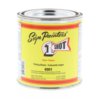 1 Shot  1/2 Pint Can Tinting Black