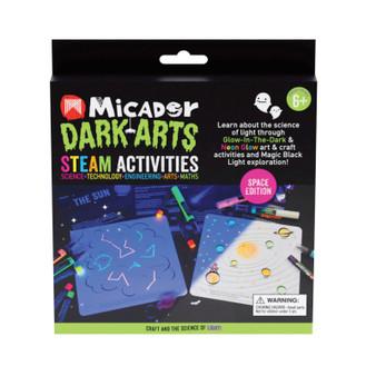 Micador Dark Arts Glow STEAM Pack Space Activities Kit