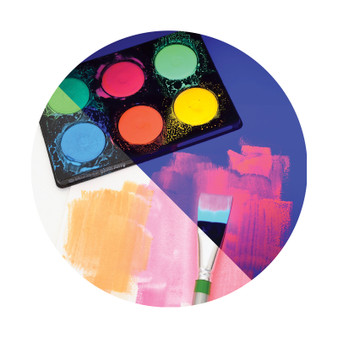 Micador Dark Arts Neon Glow Washable Paint Disk 6 Pack