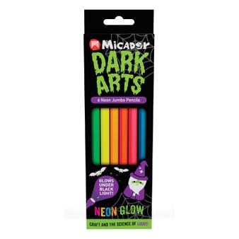 Micador Dark Arts Neon Glow Jumbo Pencils