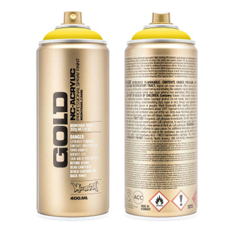 Montana GOLD Spray Paint Shock Yellow Light