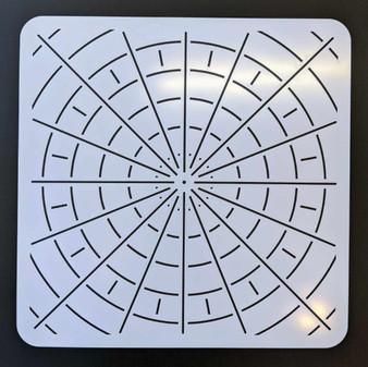 "The Dotting Center 12"" Mandala Stencil Divider 16/32"