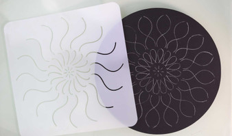 "The Dotting Center 12"" Mandala Stencil Daisy"