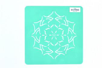 "The Dotting Center 5"" Mandala Stencil Flower"