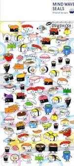 MindWave Sticker Seal Sushi Clear
