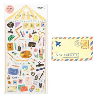 Midori Sticker Marche Stationery