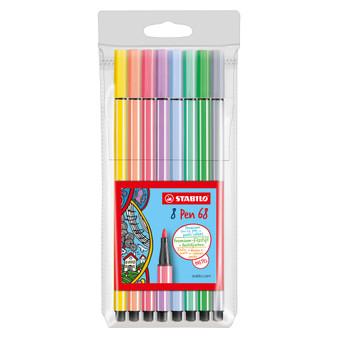 Stabilo Pen 68 Wallet Set of 8 Pastel