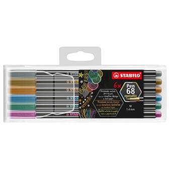 Stabilo Pen 68 Metallic Wallet Set of 6