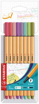Stabilo Pen 88 Wallet Set of 8
