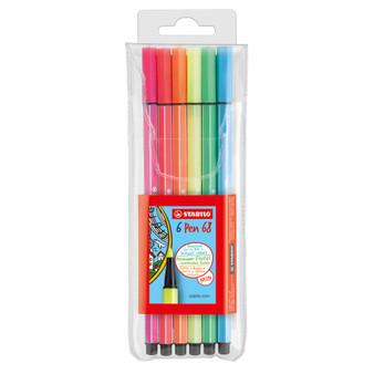 Stabilo Pen 68 Marker Wallet Neon 6 Set