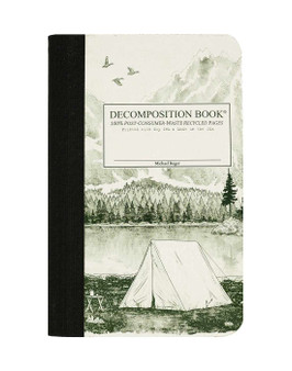 Michael Roger Press Decomposition Notebook Pocket Ruled Mountain Lake