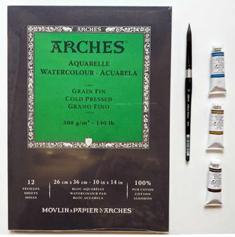 Watercolor Landscape Combo: M. Graham, Arches, & Black Velvet