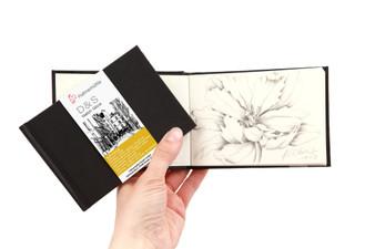 """Hahnemuhle D&S Sketchbook 3.5x5"""" Black"""