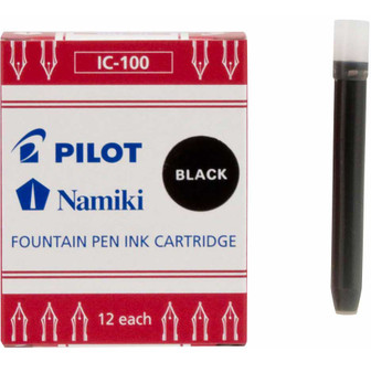 Pilot Namiki Fountain Pen Cartridge 12 Pack Black