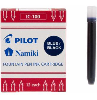 Pilot Namiki Fountain Pen Cartridge 12 Pack Blue Black