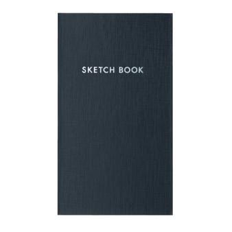 Kokuyo Field Sketch Book Grid Charcoal Black
