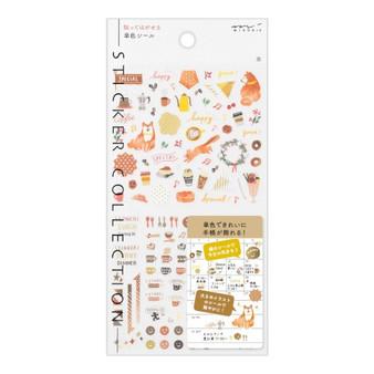 Midori Color Stickers Brown