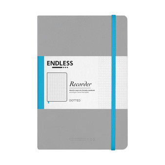 Endless Recorder Notebook Dotted Mountain Snow