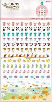 BC Mini Stickers Tiny Animal Flat