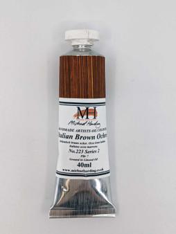 Michael Harding Artist Oil Paint 40ml Tube Italian Brown Ochre