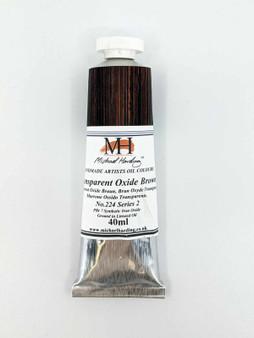 Michael Harding Artist Oil Paint 40ml Tube Transparent Oxide Brown