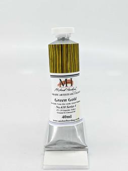 Michael Harding Artist Oil Paint 40ml Tube Green Gold