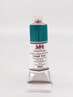 Michael Harding Artist Oil Paint 40ml Tube Cobalt Teal
