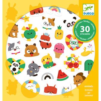 Djeco Emoji Lenticular Changing Stickers