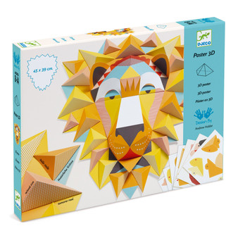 Djeco The King 3D Poster Paper Creation Activity