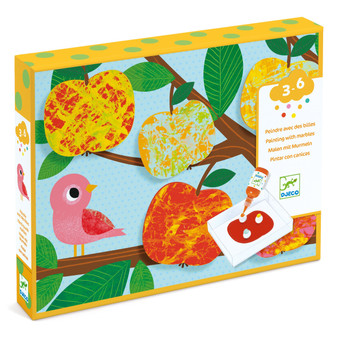 Djeco Nature Painting with Marbles Set