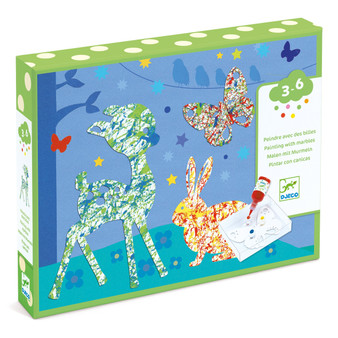Djeco Colorful Parade Painting with Marbles Set
