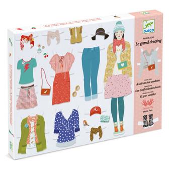 Djeco Le Grand Dressing Room Paper Dolls Activity Kit