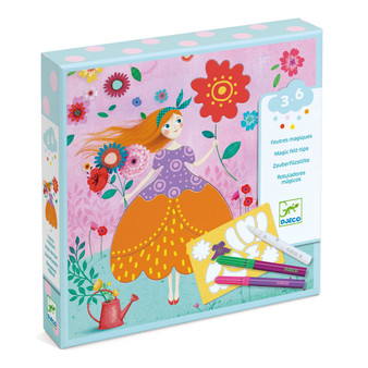 Djeco Marie's Pretty Dresses Coloring Craft Kit