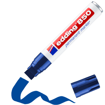 edding 850 Rectangular Nib Permanent Marker Blue