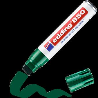 edding 850 Rectangular Nib Permanent Marker Green