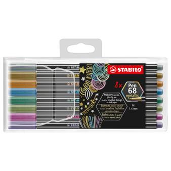 Stabilo Pen 68 Metallic Marker 8 Set Wallet