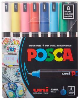 POSCA Acrylic Paint Marker 8 Standard Color Ultrafine Set
