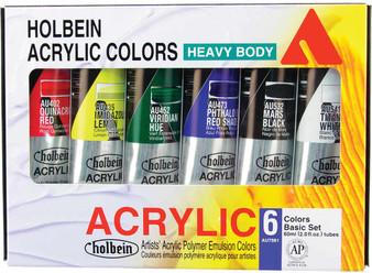 Holbein Heavy Body Artist Acrylic 6 Color Set