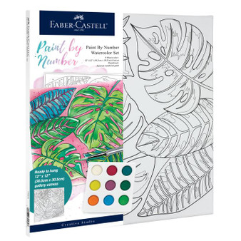 Faber-Castell Watercolor Paint by Number Tropical