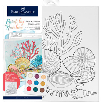 Faber-Castell Watercolor Paint by Number Coastal