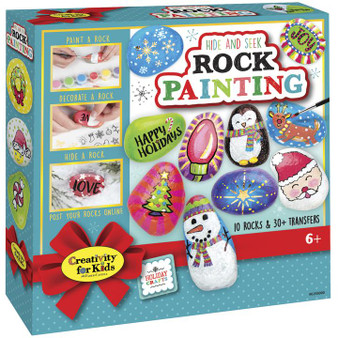 Faber Castell Creativity for Kids Holiday Hide and Seek Rock Painting Kit
