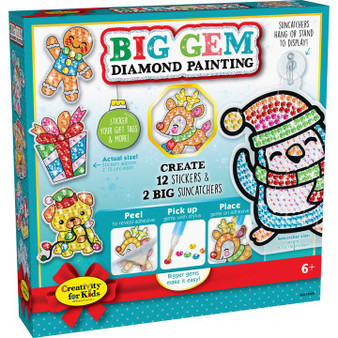 Faber Castell Creativity for Kids Big Gem Painting Holiday Kit