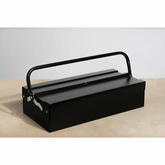 "Metalplus Single Layer Tool Box Black Orange Peel 18x8.25"""