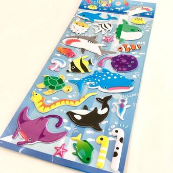 BC Mini Stickers Puffy Sea World