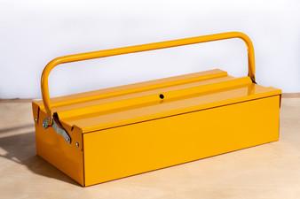 "Metalplus Single Layer Tool Box Yellow 18X8.25"""