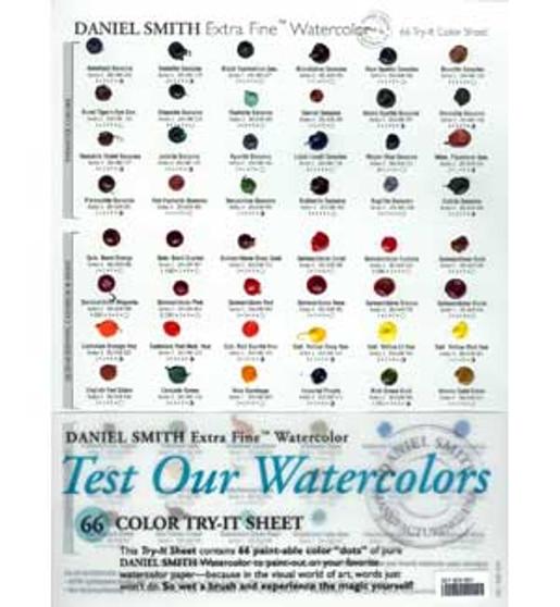 Daniel Smith Try It Sheet 66 Colors