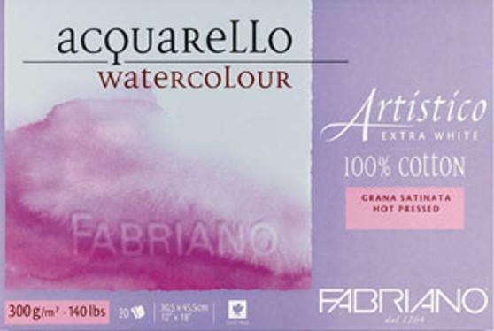 Fabriano Artistico Extra White Hot Press 20sht 9x12-Inch